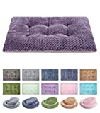 """WONDER MIRACLE Fuzzy Deluxe Pet Beds, Super Plush Dog or Cat Beds Ideal for Dog Crates, Machine Wash & Dryer Friendly (15"""" x 23"""", S-Grape Purple)"""
