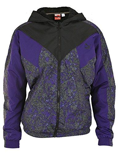 Puma Mens Winterized Winbreaker Jacket With Sherpa-Lined Hood Parachute Purple
