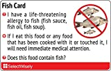 Fish Allergy Translation Card - Translated in Russian or any of 24 languages