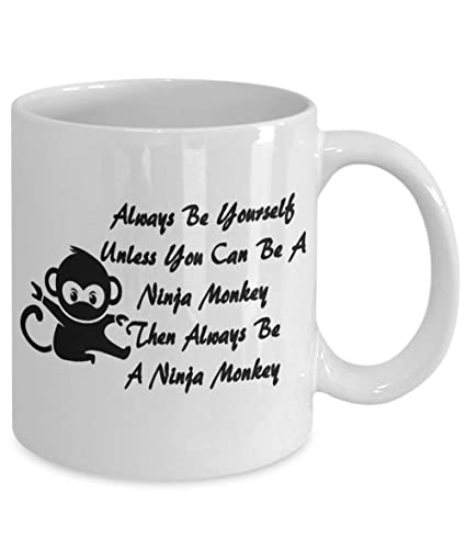 Amazon.com: Coffee or Tea Mug. Ninja Monkey. A mug to give ...