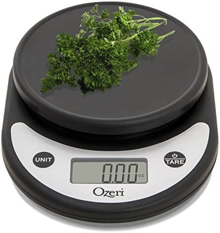 Ozeri ZK14-AB Pronto Digital Multifunction Kitchen and Food Scale, Silver On Black
