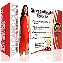 PU Health The Best Volcanic Clay Organic Detox Body Wraps for Weight Loss, 5.6 Ounce