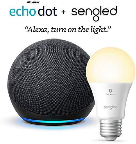 Allnew Echo Dot 4th Gen  Charcoal  bundle with Sengled Bluetooth bulb at Kapruka Online for specialGifts