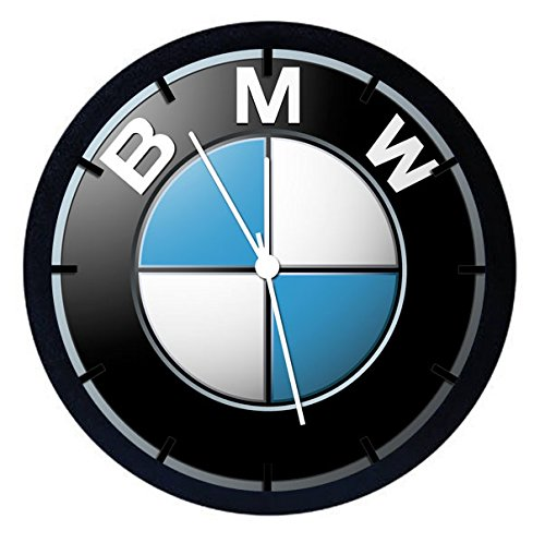 BMW Black Frame Wall Clock 10'' Will Be Nice Gift and Home Office Wall Decor W444
