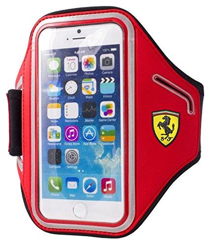 Ferrari fascia da braccio in neoprene per iPhone 6/6S e 4 A 13,21 cm smartphone - rosso