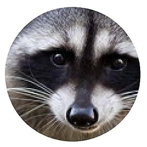 alfombrilla de ratón Potrait de un mapache común - ronda - 20cm
