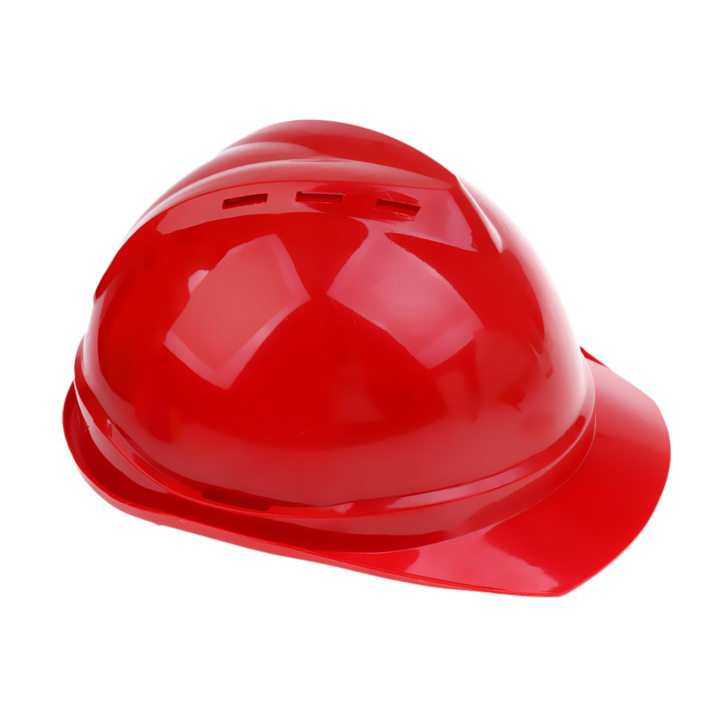 5 Colors MagiDeal Lightweight ABS Vented Safety Helmet Hard Hat Hard Cap Aerial Work Industrial Construction Protection Insulation Workwear red