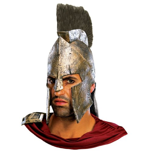 Leonidas Costume 300 (Rubie's Costume Co. Men's 300 Movie: Deluxe King Leonidas Costume Helmet, AS SHOWN, One Size)