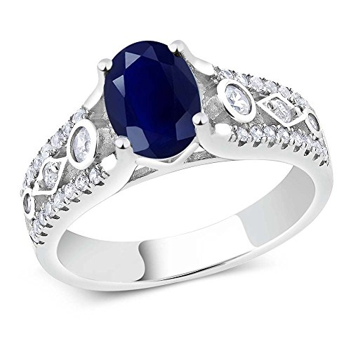 sterling-silver-oval-cut-natural-blue-sapphire-womens-engagement-ring-235-cttw-available-in-size-5-6