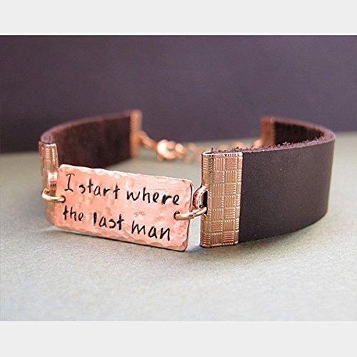 43cb6ee5b58e Amazon.com  Engraved Bracelet for Men - Personalized Leather ...