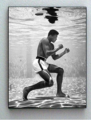 Rare Framed 1961 Muhammad Ali Training Underwater Vintage Photo. Jumbo Giclée Print