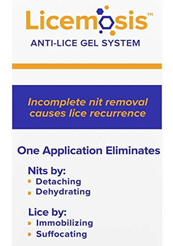 Licemosis Anti-Lice Gel System - The Most Effective Lice and Nits Removal Formula - No Nits, No Lice (Lice Treatment System)