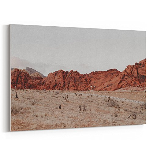 Westlake Art - Canvas Print Wall Art - Badlands Boot on Canvas Stretched Gallery Wrap - Modern Picture Photography Artwork - Ready to Hang - 18x12in (*7x-233-e0a)