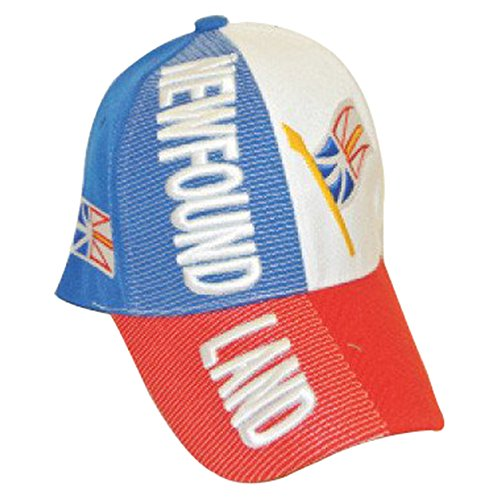 Newfoundland Baseball Caps Hats with 3 3D Embroideries