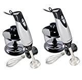 Cheap Hamilton Beach 59765 225W Handheld Kitchen Hand Blender w/Attachments, 2-Pack