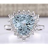 Women Fashion 925 Silver Aquamarine Gemstone Ring Wedding Engagement Jewelry Hot#by pimchanok shop (6)