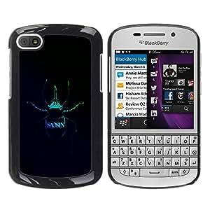 Paccase / SLIM PC / Aliminium Casa Carcasa Funda Case Cover para - Saosin - BlackBerry Q10