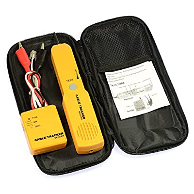 Optimal Shop Portable RJ11 Network Phone Telephone Cable Tester Toner Wire Tracker Tracer Diagnose Tone Line Finder Detector Networking Tools