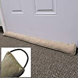 Evelots 38-Inch Door Draft Stopper Energy Saving Weather Seal W/Hang Hook,Beige