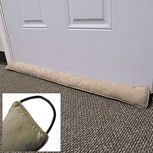 Evelots Door/Window Draft Stopper-38 Inch-Hanging Hook-No Cold Air/Noise/Insect (Draft Sand Filled Stopper Door)