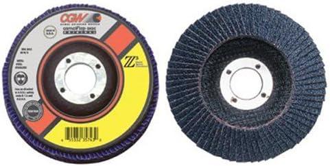 Regular Flap Discs Z3-100/% Zirconia 13,300 RPM,T27 116 Pack 4 1//2,60 Grit,7//8 Arbor