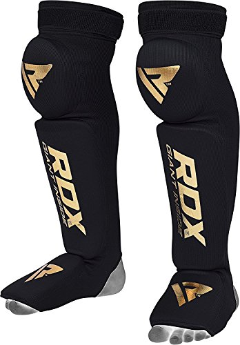 RDX Shin Guard Instep Foam Pad Boxing Knee Brace Support Leg Guards MMA Foot Protection -