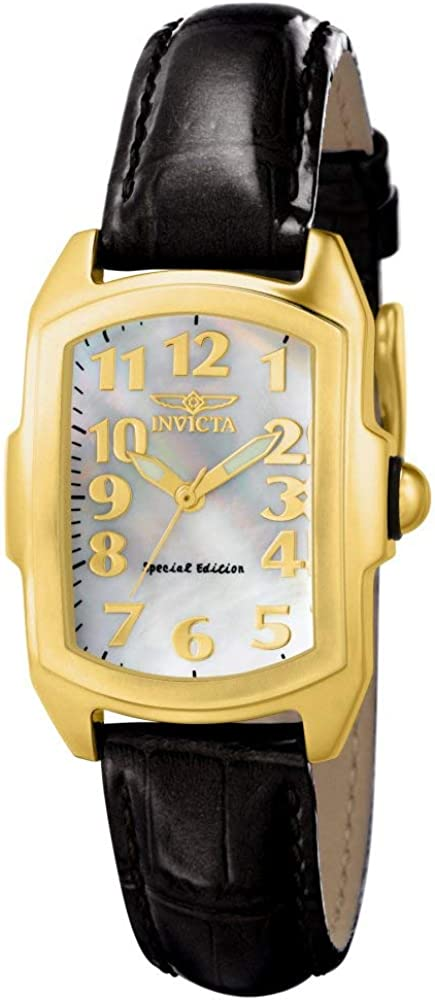 Invicta Women s 13834 Lupah 18k Gold-Plated Stainless Steel Mother-Of-Pearl Dial Watch