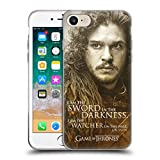 Official HBO Game of Thrones Jon Snow Character Portraits Soft Gel Case for Apple iPhone 7 / iPhone 8