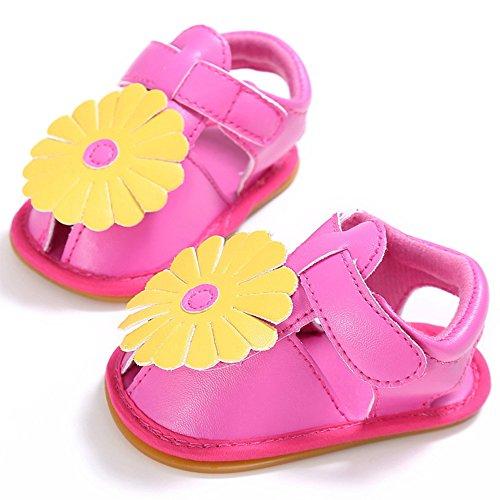 Sandalias Para bebés Antideslizante Encantador Primeros Pasos Zapatos Rosa