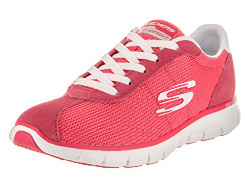 Skechers Synergy-Case Closed, Chaussures de Running Femme Rose