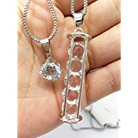 QTMY Crystal Hourglass long Multilayer Necklace Jewelry Choker with Pendant