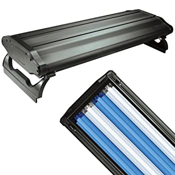 Image of Fluorescent Tubes Wave-Point 24-Inch 96-Watt 4 Bulb High Output T-5 Lighting System, Black