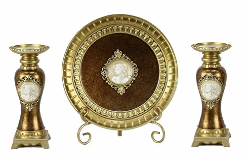 D'Lusso Designs Paullina Collection Four Piece Charger, Stand And Two Candlestick Set by D'Lusso Designs