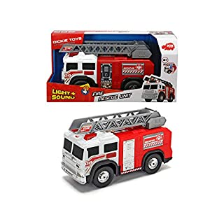"Dickie Toys 12"" Light and Sounds Fire Truck, 203306005"