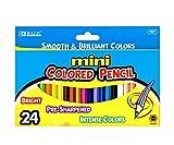 BAZIC 24 Mini Color Pencil Case of 24) Review and Comparison