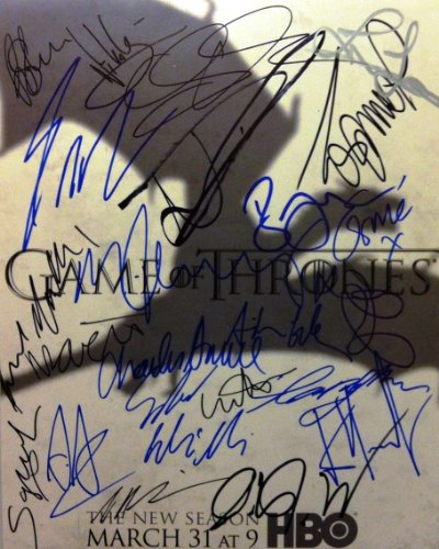Game of Thrones cast reprint signed poster photo #1 15 cast members RP