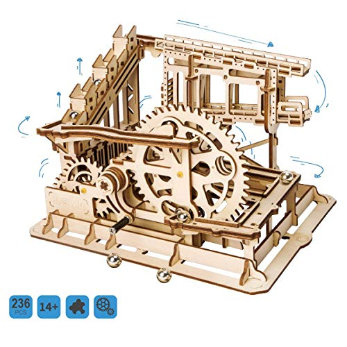 ROKR Marble Run Model Building Kits Mechanical 3D Wood Puzzle Toy Gifts for Adults & Teens Cog Coaster