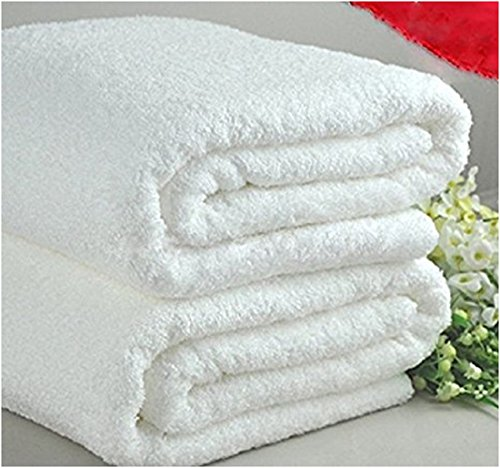 Deluxe Oversized White Terry Bath Towel 34 x 70 Inch - 2pk