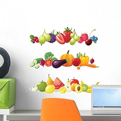 Wallmonkeys Fruits Vegetables and Berries Borders Peel an...