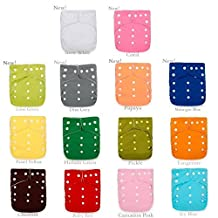 THIS WEEK SPECIAL! 12 New Improved Original Squared OS Cloth Diapers + 24 Large Inserts