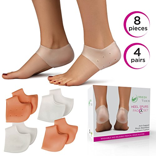 Plantar Fasciitis & Heel Spurs Pads (8pcs). Provide Arch Support and Pain Relief for Sore Feet (Disposable Foot Sox)