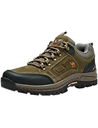 CAMEL CROWN Men's Hiking Shoes Shockproof Non-Slip Outdoor Breathable Leather Hiking Walking Trail Sneakers