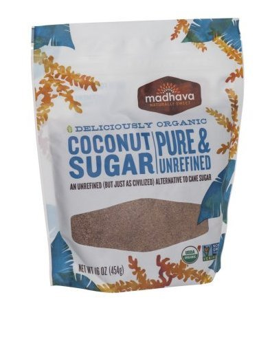Madhava Organic Pure And Unrefined Coconut Sugar, 16 oz
