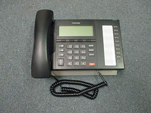Toshiba Strata CIX DP 5022 SDM Charcoal 10 Button Display Speaker Telephone #B