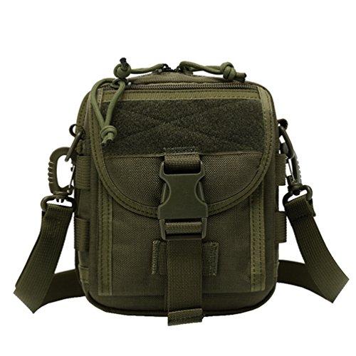 WanYang Paquetes de Camuflaje Mochila al Aire Libre de Moda Excursionismoc Rucksack Backpack Mochila Militar Táctico Bolsa Verde