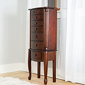 Hives & Honey Amber 6-Drawer Walnut Jewelry Armoire