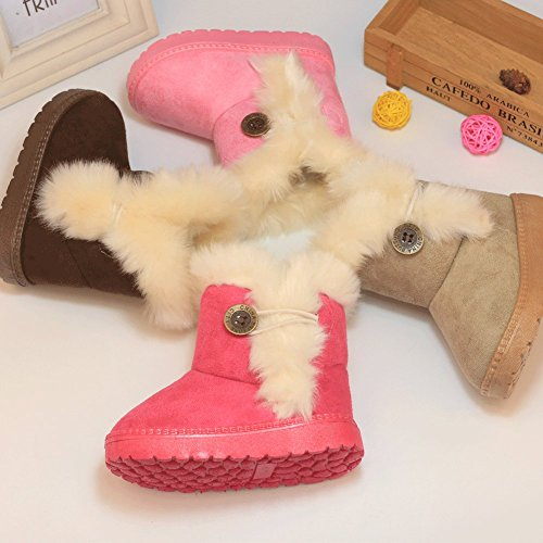 CIOR Snow Boots For Girl Fur Outdoor Slip-On Boots (Toddler/Little Kids) TX-NK,pink29