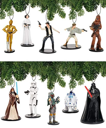 (Disney Star Wars A-New-Hope Deluxe Holiday Ornament Decoration Set of 10)