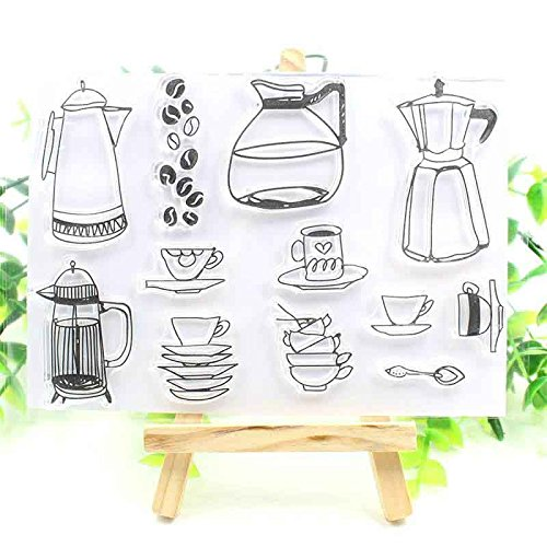 BarFeer Teapot Transparent Clear Silicone Stamps for DIY Scrapbooking/Card Making/Kids Fun Decoration Supplies