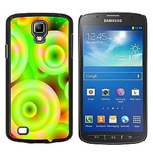 """Be-Star Único Patrón Plástico Duro Fundas Cover Cubre Hard Case Cover Para Samsung i9295 Galaxy S4 Active / i537 (NOT S4) ( Neón Colores Wallpaper Círculo Universo Espiral"""" )"""